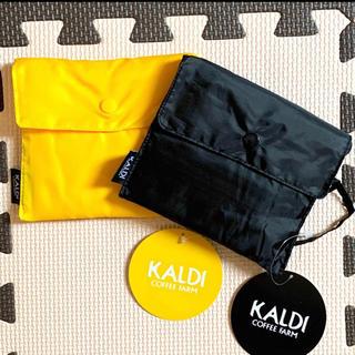 カルディ(KALDI)の1563☆ カルディ エコバック 黄色 黒 エコバッグ KALDY (エコバッグ)