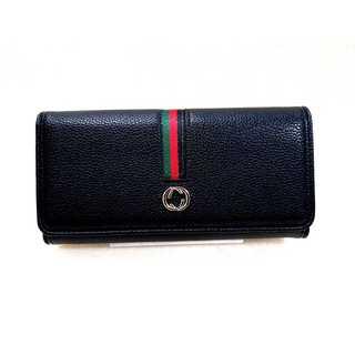 メンズレディース兼用 トリコロール 長財布 ブラック ジェンダーフリー(長財布)