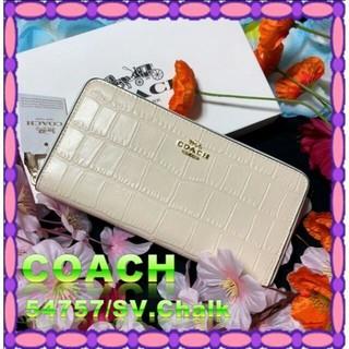 コーチ(COACH)のコーチ COACH 財布 新作 エンボスド クロコダイル(長財布)