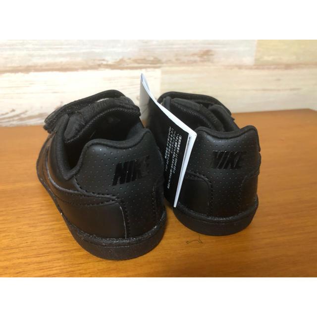 NIKE(ナイキ)の新品 15㎝ ナイキ NIKE コートロイヤル キッズスニーカー ベルクロ 黒 キッズ/ベビー/マタニティのキッズ靴/シューズ(15cm~)(スニーカー)の商品写真