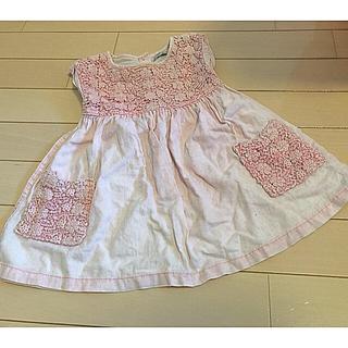 ネクスト(NEXT)のネクスト 刺繍 ワンピース 80センチ ピンク 女の子 ベビー ガールズ(ワンピース)