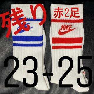 ナイキ(NIKE)の★ NIKE ナイキ ソックス 23-25cm ★残り 赤2足(ソックス)