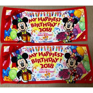 Disney - ディズニーリゾート 2018 ミッキー ミニー フェイスタオル 二枚 新品未使用