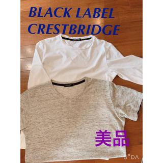 ブラックレーベルクレストブリッジ(BLACK LABEL CRESTBRIDGE)のBLACK LABEL メンズ Tシャツ トップス 美品 ロゴ 刺繍 ロンT(Tシャツ/カットソー(半袖/袖なし))