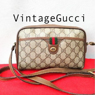 Gucci - 良品 Gucci グッチ シェリーライン ショルダーバッグ オールドグッチ レア