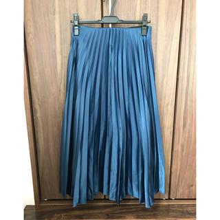 ザラ(ZARA)のZARA プリーツスカート ブルー(ロングスカート)