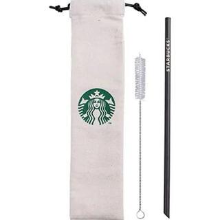 スターバックスコーヒー(Starbucks Coffee)のスターバックス 海外 台湾 スタバ チタン製 細いストローブラック(カトラリー/箸)