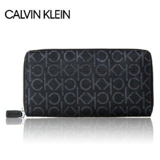 カルバンクライン(Calvin Klein)のカルバンクライン 79468 BLACK ラウンドファスナー 財布 ブラック(長財布)
