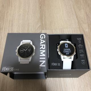 ガーミン(GARMIN)のGARMIN fenix5S Sapphire Champagne Gold(腕時計(デジタル))