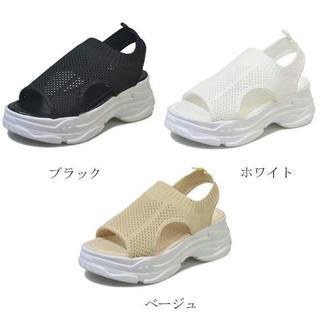 【送料無料】【色サイズ選択可】メッシュサンダル 厚底サンダル(サンダル)