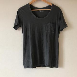 ジーユー(GU)のTシャツ ジーユー GU グレー 半袖 レディース M(Tシャツ(半袖/袖なし))