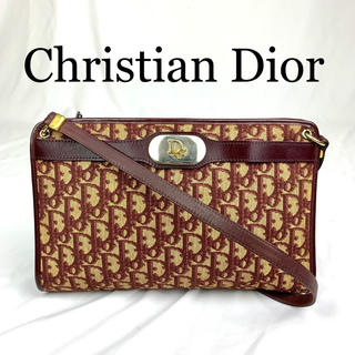 Christian Dior - 美品 Christian Dior トロッター ロゴ金具 ショルダーバッグ