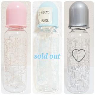 ベビーディオール(baby Dior)のユーズド♡ babyDior ベビーディオール 哺乳瓶 シルバー (哺乳ビン)