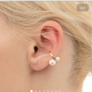 エストネーション(ESTNATION)のヒロタカ/double pearl earcuff/hirotaka(イヤーカフ)