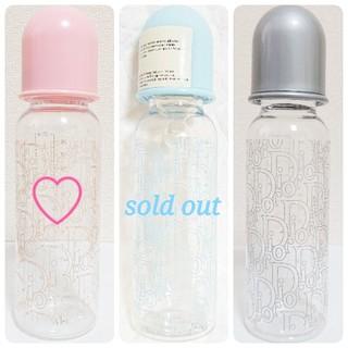 ベビーディオール(baby Dior)のユーズド♡ babyDior ベビーディオール 哺乳瓶 ピンク (哺乳ビン)