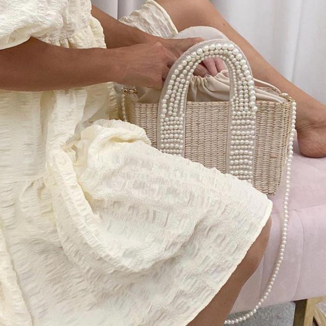 Chesty(チェスティ)のsale♡可愛さの極み♡パール×かごbag レディースのバッグ(かごバッグ/ストローバッグ)の商品写真