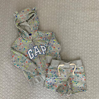 ベビーギャップ(babyGAP)のbabyGAP パーカー+ショートパンツ(トレーナー)