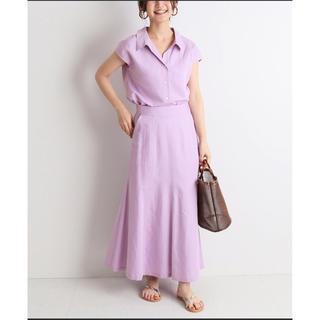 IENA SLOBE - 新品 slobe IENA リネン混襟付きブラウス×マーメイドフレアスカート