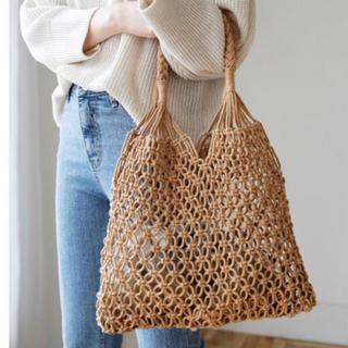 dholic - 当日発送可能❤韓国ファッション夏にピッタリかぎ編みかごバッグbeige