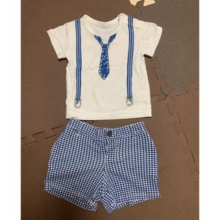 ニシマツヤ(西松屋)の西松屋 ラルフローレン 80 男の子 Tシャツ ハーフパンツ セット(Tシャツ)