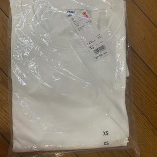 ユニクロ(UNIQLO)のユニクロXSオーバーサイズスリットチュニック(七分袖)01off White(Tシャツ(長袖/七分))