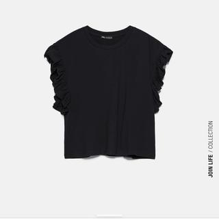 ZARA - ZARA フリル付きTシャツ