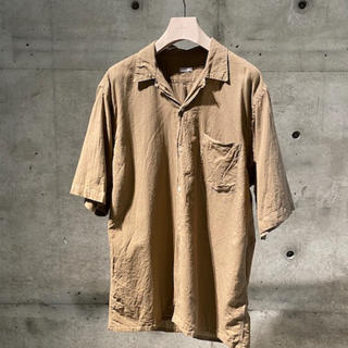 COMOLI - COMOLI ベタシャンオープンカラーシャツ カーキ 2