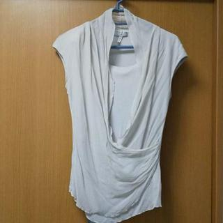 ディノス(dinos)のダーマ 洗えるシルク カットソー グレー L(カットソー(半袖/袖なし))