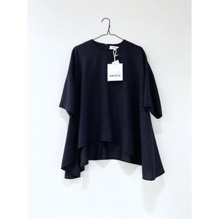 エンフォルド(ENFOLD)の新品 ENFOLD 19SS エンフォルド リネンライク トップス ネイビー(Tシャツ(長袖/七分))