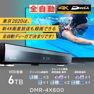 Panasonic - おうちクラウドディーガ DMR-4X600 パナソニックBlu-ray