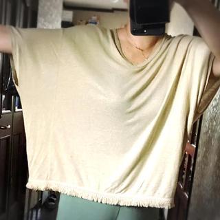 ジーユー(GU)のGU★ポンチョ風トップス(カットソー(半袖/袖なし))