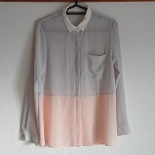 ジーユー(GU)のGU  長袖シアーシャツ(シャツ/ブラウス(長袖/七分))