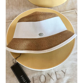 フォクシー(FOXEY)の☆FOXEYフォクシー☆PACKING HAT''TOWN''新品未使用タグつき(麦わら帽子/ストローハット)