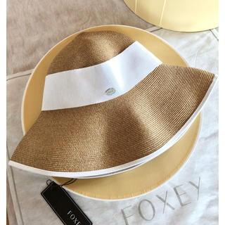 フォクシー(FOXEY)の☆FOXEYフォクシー☆PACKING HAT''BEACH''新品未使用タグ付(麦わら帽子/ストローハット)