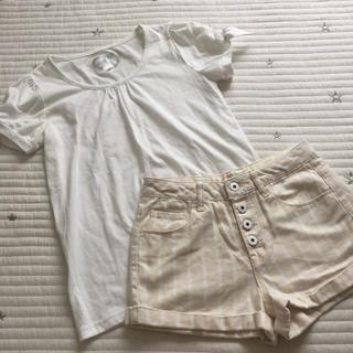 フォーエバートゥエンティーワン(FOREVER 21)の150〜160 フォーエバー21 ストライプパンツ ノーブランド Tシャツ(パンツ/スパッツ)