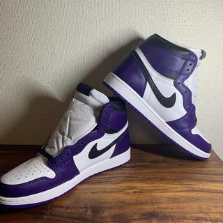 NIKE - NIKE AIR JORDAN1 Court Purple US10.5 AJ1