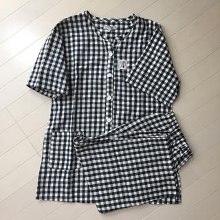 西松屋 - 新品♪マタニティパジャマ  黒チェック柄 Lサイズ