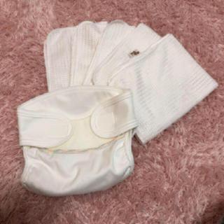 美品 ベイビーハーツ 布おむつ 新生児 50センチ 3キロ さらさらネット5枚(布おむつ)