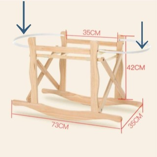 木製クーファンスタンド(ベビーベッド)