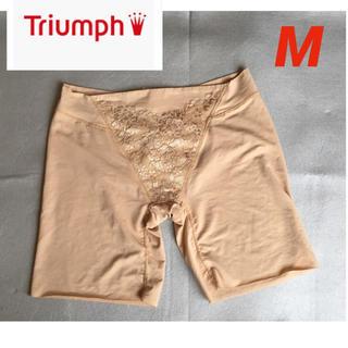 Triumph - トリンプ ガードル ショーツ ベージュ M L ミドル丈 レース