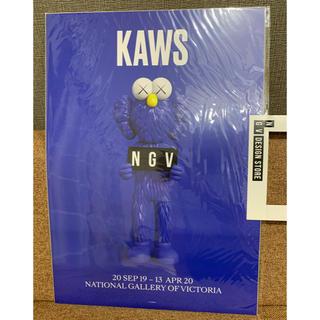 メディコムトイ(MEDICOM TOY)の【新品】KAWS ポスター NGV BFF BLUE ブルー(ポスター)