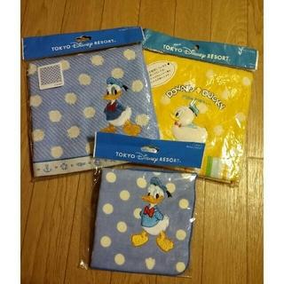 ディズニー(Disney)のディズニーリゾート ドナルド タオル(3枚セット&エコバック)(ハンカチ)
