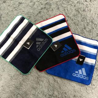 アディダス(adidas)のアディダス  ハンカチタオル 3枚セット(ハンカチ/ポケットチーフ)