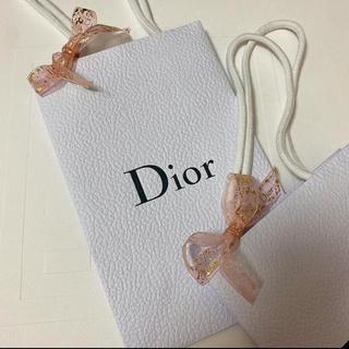 クリスチャンディオール(Christian Dior)の❤️ディオール ラッピングセット ショッパー ギフトボックス 限定リボン付き新品(ショップ袋)