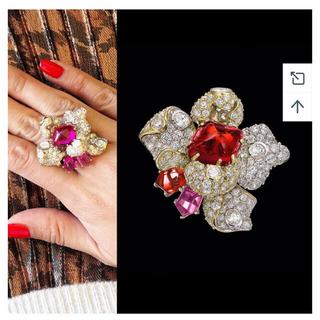 カルティエ(Cartier)のAnabela Chan パヴェダイヤモンド 8カラットルビーリング(リング(指輪))
