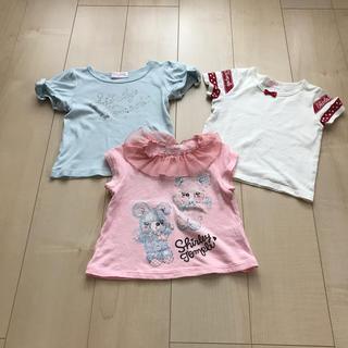シャーリーテンプル(Shirley Temple)のシャーリーテンプル  カットソー 100 3枚(Tシャツ/カットソー)