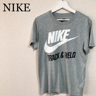 ナイキ(NIKE)の★未使用★NIKE Tシャツ グレー メンズL ビッグロゴ デカロゴ(Tシャツ/カットソー(半袖/袖なし))
