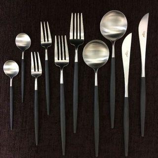 正規品 クチポール GOA ブラック&シルバー 10本 数量変更OK(カトラリー/箸)