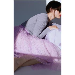 ザラ(ZARA)の新品ZARAチュールスカートM(ひざ丈スカート)