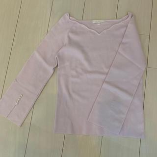 PROPORTION BODY DRESSING - 袖パール付スカラップニット
